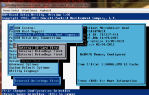 Removable Flash Media Boot Sequence